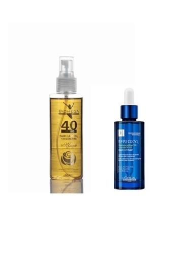 L'oreal Professionnel Serioxyl Stemoxydine %5 Denser Hair 90 ml+Biomega 40 Bitkili Doğal Saç Bakım Yağı 150 ml Renksiz